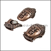 10mm flat BUDDHA magnetic clasp ANT COPPER - per 10 clasps
