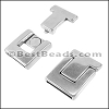 20mm flat BUCKLE magnetic clasp ANT SILVER - per 5 clasps