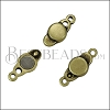SMALL LOOP END magnetic clasp ANT BRASS - per 10 clasps