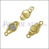 SMALL LOOP END magnetic clasp SHINY GOLD - per 10 clasps