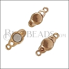 SMALL LOOP END magnetic clasp ROSE GOLD - per 10 clasps