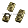 5mm flat HAMMERED magnetic clasp ANT BRASS - per 10 clasps