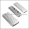 50mm flat HAMMERED magnetic clasp ANT SILVER - per 5 clasps