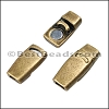 3mm flat PLAIN magnetic clasp ANT BRASS - per 10 clasps