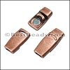 3mm flat PLAIN magnetic clasp ANT COPPER - per 10 clasps