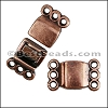 3 LOOPS magnetic clasp ANT COPPER - per 10 clasps