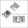 3 LOOPS magnetic clasp ANT SILVER - per 10 clasps