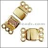 3 LOOPS magnetic clasp GOLD - per 10 clasps
