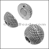 5mm round SMALL DOTS SPHERE magnetic clasp ANT SILVER - per 10 clasps
