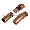 6mm round CURVED TUBE magnetic clasp ANT COPPER - per 10 clasps