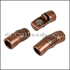 8mm round DECO magnetic clasp ANT COPPER - per 10 clasps