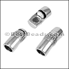 8mm round DECO magnetic clasp ANT SILVER - per 10 clasps