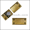 8mm flat RIVET magnetic clasp ANT BRASS- per 10 clasps