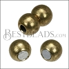 2mm round 2 PLAIN SPHERES magnetic clasp ANT. BRASS - per 10 pieces