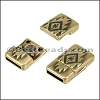 10mm flat SOUTHWESTERN magnetic clasp ANT BRASS - 10 clasps