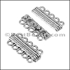 5 LOOPS magnetic clasp ANT SILVER - per 5 clasps