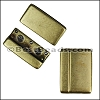 30mm flat ROUNDED magnetic clasp ANT BRASS - per 5 clasps
