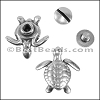 Multi flat TURTLE screw set ANT SILVER - per 10 sets