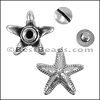 Multi flat STARFISH screw set ANT SILVER - per 10 sets