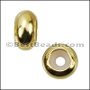 Small Bead Stopper GOLD - per 10 pieces