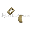 5mm flat CRIMP CRESCENT slider ANT BRASS - 10 pcs
