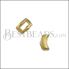 5mm flat CRIMP CRESCENT slider SHINY GOLD - 10 pcs