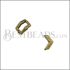 5mm flat CRIMP CHEVRON slider ANT BRASS - 10 pcs