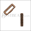 10mm flat CRIMP CROSSHATCH slider ANT COPPER - 10 pcs