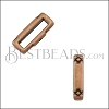 10mm flat CRIMP CROSSHATCH ENDS slider ANT COPPER - 10 pcs