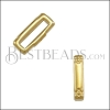10mm flat CRIMP CROSSHATCH ENDS slider SHINY GOLD - 10 pcs
