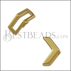 10mm flat CRIMP CHEVRON slider SHINY GOLD - 10 pcs