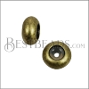 Extra Small Bead Stopper - ANT BRASS - 10 pcs