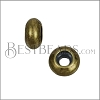 Small Bead Stopper - ANT BRASS - 10 pcs