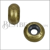 Medium Bead Stopper - ANT BRASS - 10 pcs