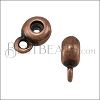 6mm Bead Stopper - with Loop ANT COPPER - 10 pcs