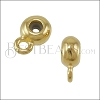 6mm Bead Stopper - with Loop GOLD - 10 pcs
