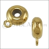 10mm Bead Stopper - with Loop GOLD - 10 pcs