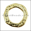 SMALL HAMMERED RING slider GOLD - per 10 pieces