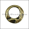SMALL IRREGULAR RING slider ANT BRASS - 10 pcs