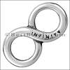 multi round ENGRAVED INFINITY slider ANT SILVER - per 10 pieces