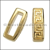 10mm flat MEANDER slider GOLD - per 10 pieces