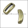10mm flat CRESCENT spacer ANT BRASS - per 10 pieces