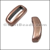 10mm flat CRESCENT spacer ANT COPPER - per 10 pieces