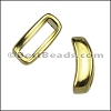 10mm flat CRESCENT spacer GOLD - per 10 pieces
