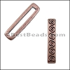 20mm flat WAVE spacer ANT COPPER - per 10 pieces