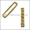 20mm flat WAVE spacer GOLD - per 10 pieces