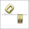 5mm flat WAVE spacer GOLD - per 10 pieces
