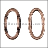 10mm flat OVAL RING spacer ANT COPPER - 10 pcs