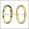 10mm flat OVAL RING spacer GOLD - 10 pcs