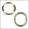 10mm flat LARGE HAMMERED RING spacer ANT BRASS - per 10 pieces
